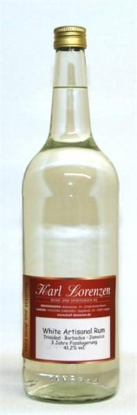 White Artisanal Rum 41,2% vol. 3 Jahre Trinidad Barbados Jamaica lose vom Fass