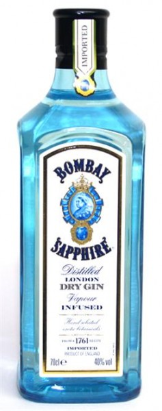 Bombay Sapphire 40% vol London Dry Gin 0,7 l