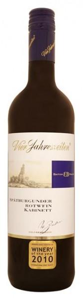 Spätburgunder Edition Brahner Kabinett lieblich Vier Jahresz. 0,75 l
