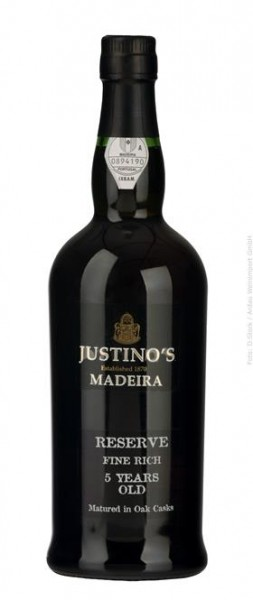Reserva Fine Rich 5 Years Old Madeira Vinhos Justino Henriques DOC 0,75 l
