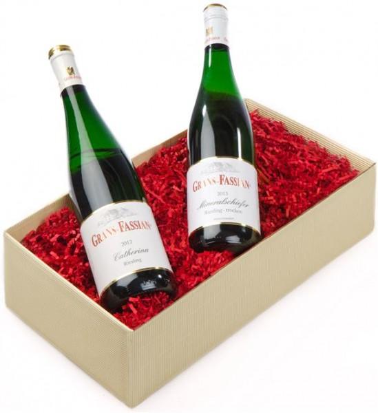 Weinpräsent Mosel Stern Grans Fassian Riesling aus dem Steilhang