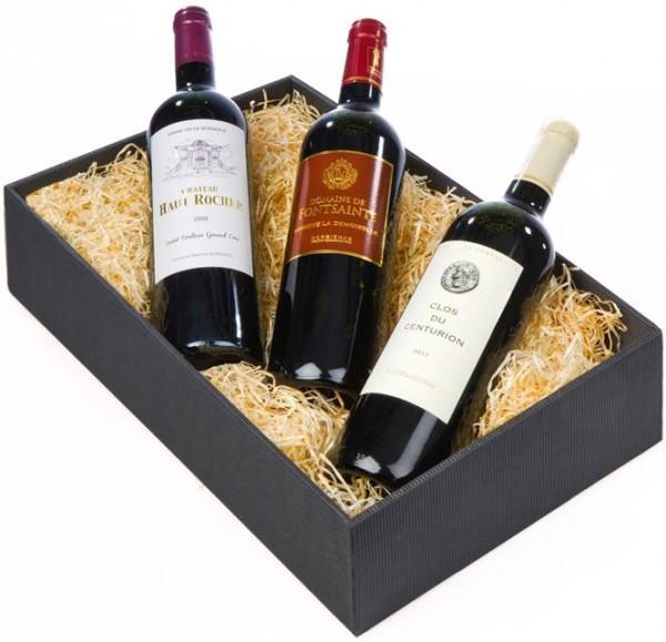 Weinpräsent Aquitiania 3 rote Premiumweine aus Frankreich