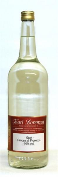 Grappa di Prosecco Giori 40% vol. fruchtbetont und mild lose vom Fass