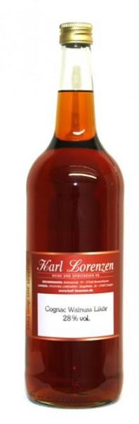 Cognac-Walnuss Likör 28% vol. l. v. Fass vollmundiges Nußaroma gepaart mit Cognac