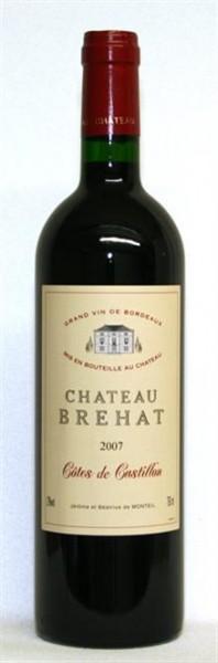 Chateau Brehat Cotes de Castillon AOP Mis en bouteille au Chateau 0,75 l