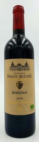 Chateau Haut Bicou 2016 - Bordeaux -Bio- 0,75L