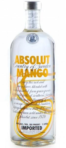 Absolut Mango 40% vol. Wodka mit Mango aus Schweden, 1,0 l