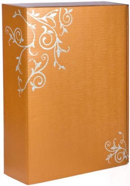 Verpackung Präsentkarton mit Ornamenten für 3 Flaschen