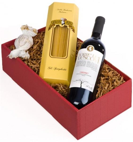 Weinpräsent Little Italy Pasta, Vino e dolci