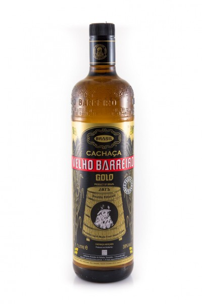 Cachaca Vehlo Barreiro Gold 40% vol. 1,0 l