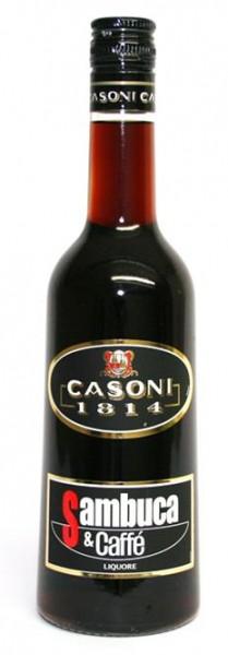 Sambuca al Cafe Casoni 31% vol. italienischer Anislikör mit Kaffee 0,7 l