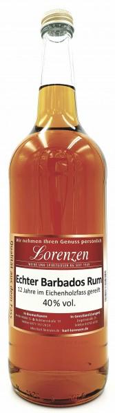 Echter Barbados Rum 40% vol. 12 Jahre Eichenfass sehr vanillig & mild vom Fass