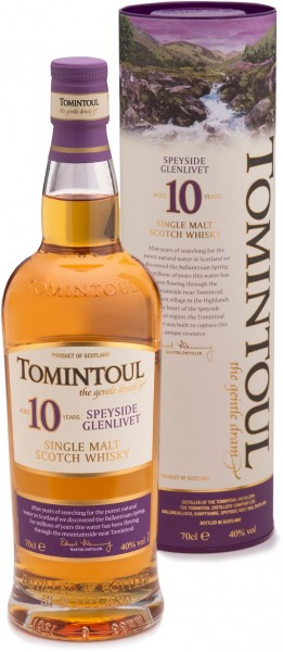 Tomintoul 10 Jahre Single Malt Speyside Glenlivet 40% vol. 0,7l