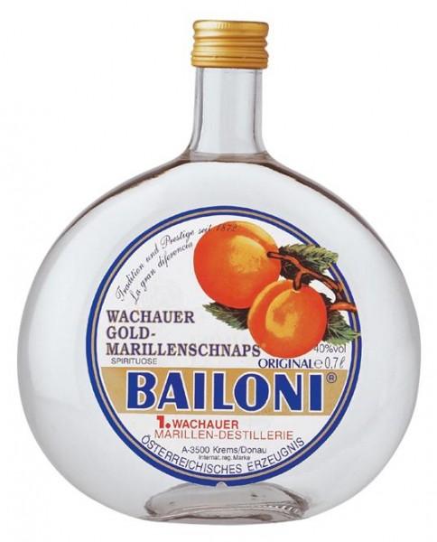 Bailoni Gold Marillenschnaps 40% vol. Spirituose aus der Wachau 0,7 l