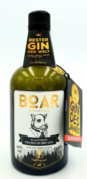 Boar Gin Black Forest Premium Dry Gin 43% vol. 0,5l