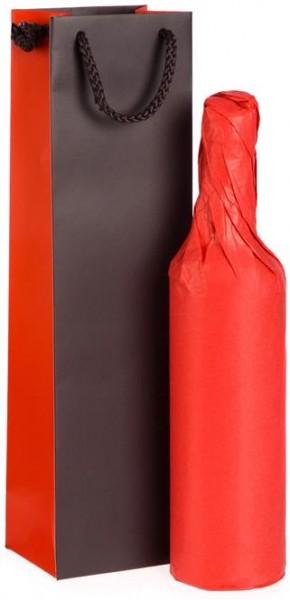 Verpackung Präsenttasche modernes Design für 1 Flasche oder Feinkost