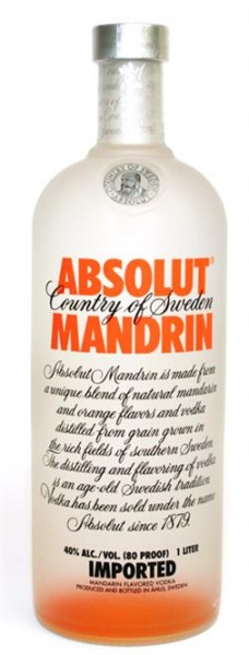 Absolut Mandrin 40% vol. Country of Sweden 1,0 l