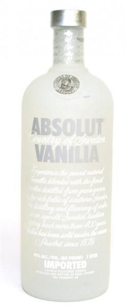 Absolut Vanille 40% vol. Wodka mit Vanille-Sweden 1,0 l