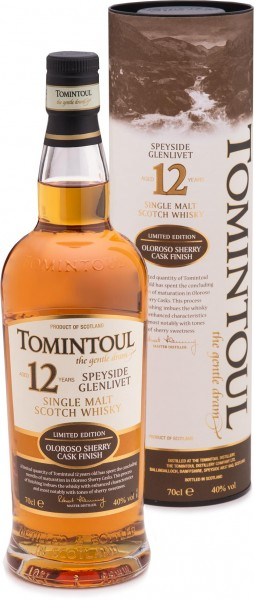 Tomintoul 12 Jahre Oloroso Sherry Cask, Single Malt 40% vol. 0,7l