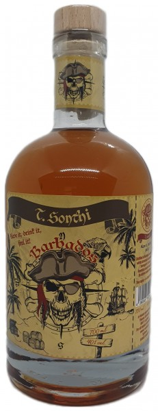 T.Sonthi Have it, drink it, feel it! Barbados Rum 10 Jahre 40% vol. 0,7l