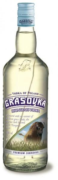 Grasovka 40% vol. Polnischer Wodka mit Büffelgras 1,0 l