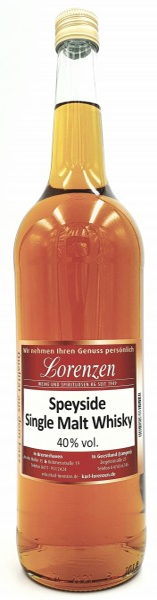 Speyside Single Malt Whisky lose vom Fass 40% vol.