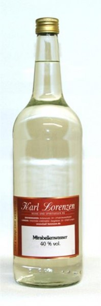 Mirabellenwasser 40% vol. fruchtbetont und mild lose vom Fass