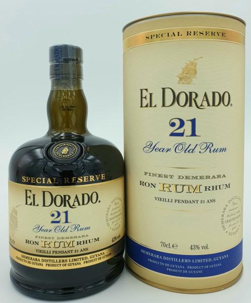 El Dorado 21 Jahre Special Reserve 43% vol. Rum aus Guyana 0,7 l