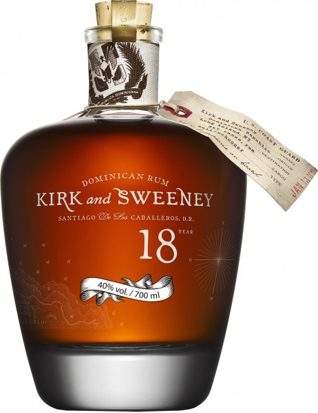 Kirk and Sweeney Rum 18 Years 0,7 l 40% vol. Rum aus der Dom. Republik 0,7 l