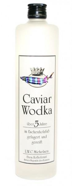 """Caviar Wodka """"5 Jahre"""" 40% vol. im Eichenholzfaß gelagert Eiskrug 0,5 l"""