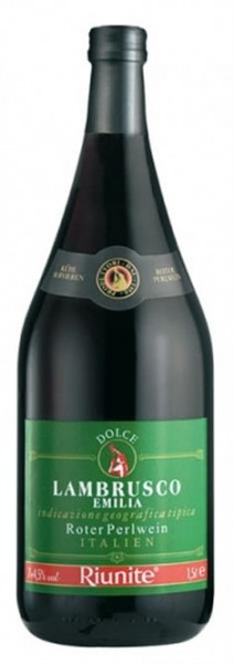 Lambrusco IGT Cantine Ruinite dolce Emilia Romagna 0,75 l grünes Label