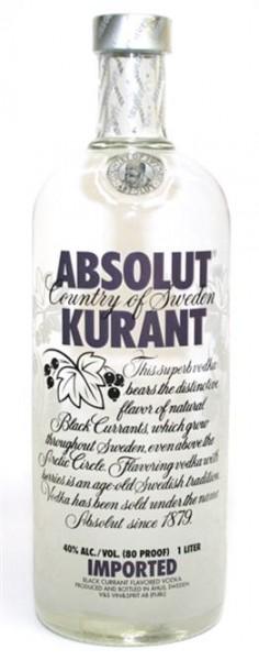 Absolut Kurant 40% vol. Wodka mit Johannisbeeren-Sweden 1,0 l