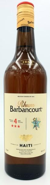 Barbancourt 3 Sterne Rhum Agricole Haiti 4 Jahre 40% vol. 0,7l