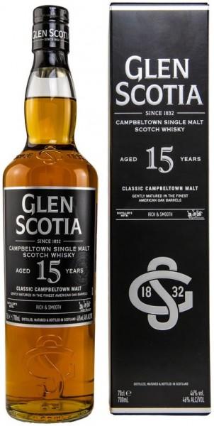Glen Scotia 15 Jahre 46%vol. American Oak Barrels, Single Malt Whisky 0,7 l