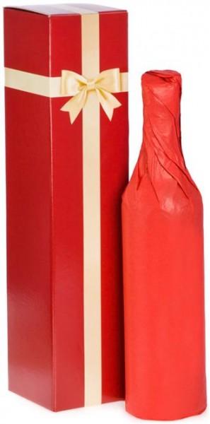 Verpackung Faltschachtel mit Schleifendekor für eine Flasche