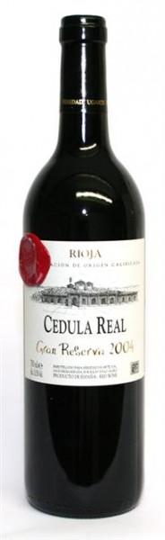 Cedula Real Gran Reserva Bodegas Ugarte Eguren DOCa Rioja 0,75 l