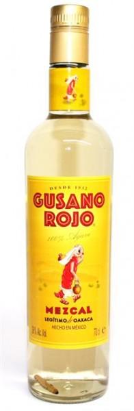 Mezcal Cusano Rojo 38% vol. Tequila mit Wurm 0,7 l