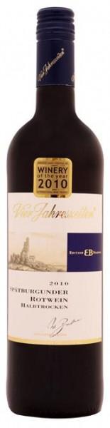 Spätburgunder Rotwein Edition Brahner halbtrocken QbA Vier Jahr. Pfalz 0,75 l