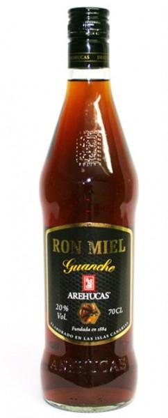 Ron Miel Guanche 20% vol., 0,7 l Spezialität aus Honig und Rum-Canarias