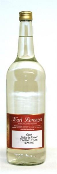 Distillato d'Uva Giori 40% vol. lose vom Fass vollfruchtiger Gaumenschmeichler