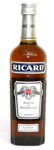 Ricard Pastis Aperitif 45% vol. Anislikör 0,7 l